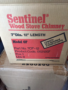 Never Used Sentinel Wood Stove Chimney