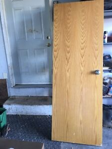 5 Solid Wood Doors with Hinges & Knobs