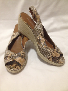 Ladies New Franco Sarto Wedge Slingback Sandals