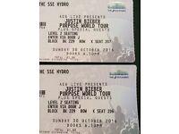 2 x Justin Bieber Tickets Glasgow SSE Hydro