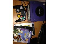 Nintendo GameCube console with Mario sunshine