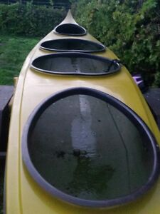 TANDEM KAYAK WITH 2 EXTRA PORTS AND TRAILER