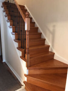 gallery for in bamboo hardwood staircases raven wood installation bear floors white lake mn flooring stairs installed staircase