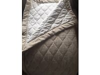 Dorma king size bedspread in stunning beige, gold and cream