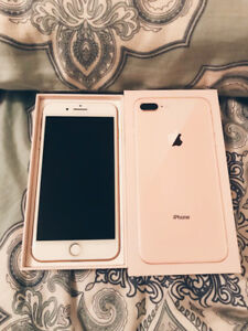 iPhone 8 Plus 64GB Gold ; mint condition (unlocked)