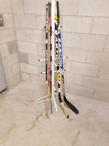 Hockey sticks and Hockey Rack