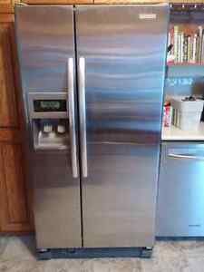 """Kitchen Aid 33"""" Side by Side Stainless Steel"""