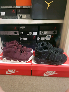 Nike air pippen UPTEMPO black and maroon both size 9US