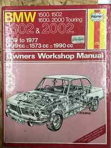 BMW 1602, 2002 Owners Shop Manual