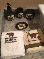 Full 6 Piece Bathroom Set - Outdoor Theme From BASS PRO SHOP