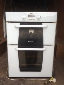 Hotpoint integrated double oven and grill (RHYL)