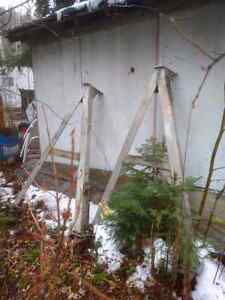 A Frame legs  Heavy duty, Aluminum.Industrial strength. Prince George British Columbia image 3