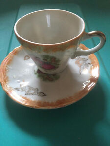 Demitasse cup and saucers