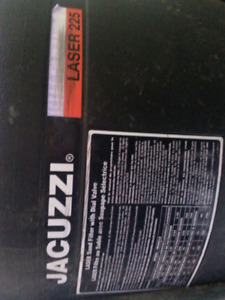 Jacuzzi sand filter and pump