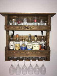 Wood Mountable Liquor rack, Wine rack (cabinet, shelf storage)