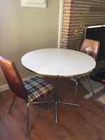 White Drop Leaf Kitchen Table + Chairs