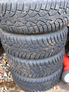 "4 15"" winter tires, excellent shape, almost new, 205 60 15"