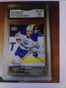 LOOK >> WANTED CONNOR MCDAVID YOUNG GUNS ROOKIE CARDS