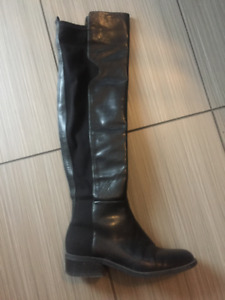Nine West Leather Knee High Boots for $35