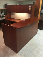 Beautiful Cherry Reception Desk with Matching Pieces.