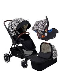 """My Babiie MB250 AM to PM by Christina Milian - Leopard """"Victoria"""" Travel System"""