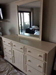 Large dresser with matching mirror