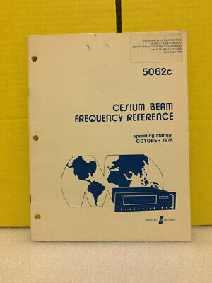 Hp 5062c Cesium Beam Frequency Reference Operating Manual