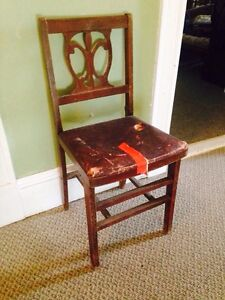 Antique Chair, Sturdy But Seat Needs Recovered
