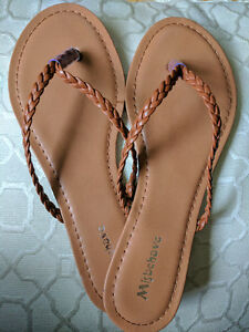 Brand New *Tan* Braided Thong Sandals- Size 8