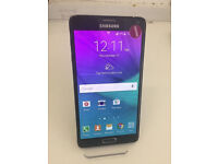 SAMSUNG NOTE 4 32GB 4G LTE BLACK AS NEW CONDTION UNLOCKED WITH RECEIPT AND WARRANT