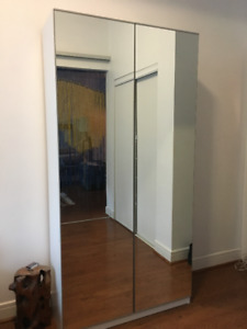Ikea PAX Wardrobe with Mirror Doors