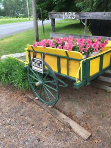 Flower planter cart