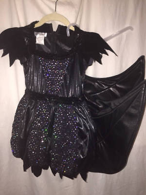 Bat Fairy Costume (Wishcraft Black Bat Fairy Girls Sz 6 Dress Costume &)