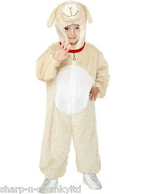 Girls Boys Little Lamb Sheep Dog Animal Book Day Fancy Dress Up Costume Outfit - Lamb Dog Costume