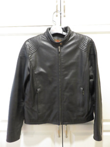 Ladies Black Danier Leather Biking Jacket for sale! New price!!