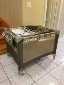 Brand new condition play yard and bassinet/change table