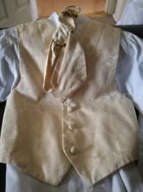 Kids shirt and waist coat.