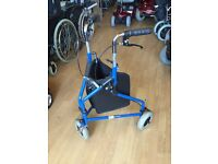 Mobility Tri walker commode Zimmer & wheelchairs perching stools
