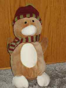 "PENGUIN - 12"" PLUSH - ANIMAL ADVENTURES - ORGANIC BEGINNINGS"