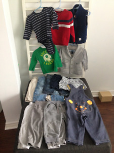 Baby/Toddler Boy 12-18M Cloths Lot - 18pcs