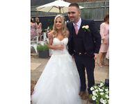 Wedding dress with matching veil & tiara