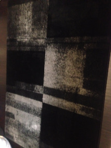 New Contempary Black & Grey Area Rug