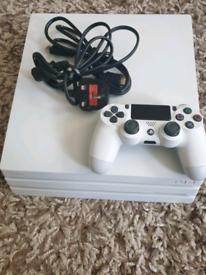 PS4 Pro 1TB White. Mint Condition