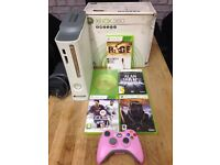 Xbox 360 Slimline 5 Games 1 Wireless Pad All Leads Boxed Excellent Condition