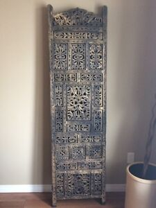 India style hand carved screen room divider
