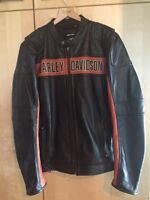 Harley Davidson Leather Riding Jacket XL Tall as new