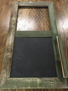 Rustic Chalk Board/ Picture Frame