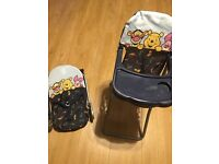 Doll high chair and bouncer