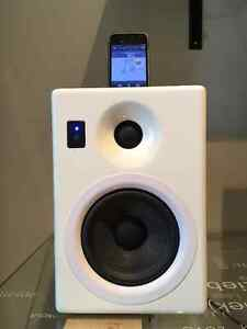 KANTO iPAIR-5 Blanc laqué / Enceinte pour iPod-iPhone (25 Watts)