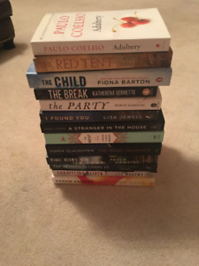 Set of 13 books - psychological thrillers (excellent condition)